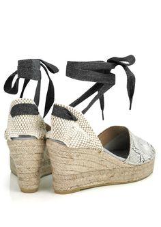 Toni Pons Espadrilles Flat and Wedge Heels - The Espadrille Hut Leather Espadrilles, Leather Wedges, Denim Cutoffs, Outdoor Parties, Snake Print, Warm Weather, Wedge Heels, Looks Great