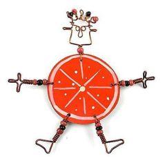 Dancing Girl Orange Slice Pin - Creative Alternatives