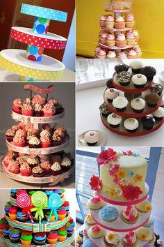 Como fazer uma Torre ou suporte para cupcakes – Passo a passo | Inspire sua festa                                                                                                                                                                                 Más
