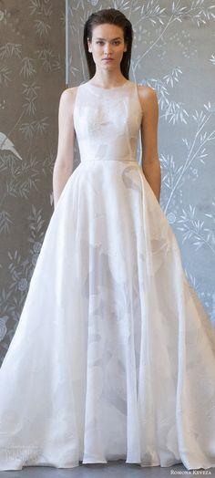 romona keveza spring 2018 bridal sleeveless jewel neck a line wedding dress (rk8404) mv train modern romantic -- Romona Keveza Collection Spring 2018 Wedding Dresses