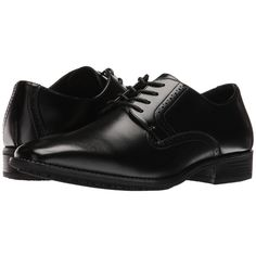 Stacy Adams Ardell Slip Resistant Plain Toe Oxford (Black) Men's Plain... ($60) ❤ liked on Polyvore featuring men's fashion, men's shoes, men's dress shoes, shoes, men, flats, menswear, men's flats, mens black lace up shoes and mens flat shoes