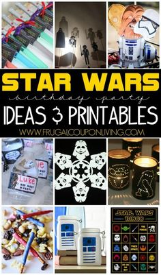 Star Wars Party Ideas and FREEBIES on Frugal Coupon Living. Everything you need to make your Star Wars party perfect... printables, creative ideas and more!