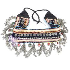 Dark Colored Tribal Belly Dance Belt with Drape