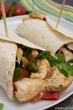 Chicken Wrap mit Honig-Senf Dressing