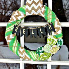 Easy DIY St. Patrick's Day Wreath
