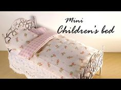 ▶ Miniature Furniture; Cute Bed Tutorial - Dolls/Dollhouse - YouTube