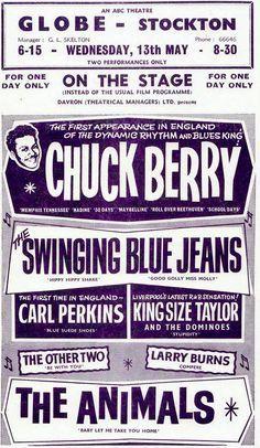 13.05.1964; chuck berry - carl perkins - the animals; gbr, stockton, globe; (db)