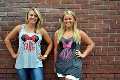 Minnie Mouse Monogram Tank Shirt Disney by embellishboutiquellc Disney Time, Disney 2017, Run Disney, Disney Fun, Disney Family, Disney Shirts, Disney Outfits, Monogram Tank, Disney Wishes