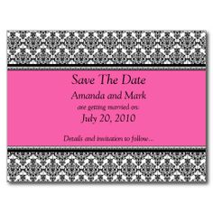 ==>Discount          Pink and Black Save The Date Postcard           Pink and Black Save The Date Postcard We have the best promotion for you and if you are interested in the related item or need more information reviews from the x customer who are own of them before please follow the link to ...Cleck Hot Deals >>> http://www.zazzle.com/pink_and_black_save_the_date_postcard-239779992040551759?rf=238627982471231924&zbar=1&tc=terrest