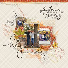 Leafing Memories #layerworks726 #autumnleaves #designerdigitals #digitalscrapbookpages