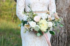 Garden Style Bridal Bouquet by Southern Girl Weddings How To Preserve Flowers, Flower Bouquet Wedding, Garden Styles, Silk Flowers, All Things, Modeling, Southern, Weddings, Bridal