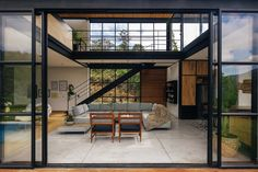 Gallery of candelaria house / llano arquitectos - 3 fachadas modernas, casa Steel Frame House, Steel House, A Frame Cabin, Container House Design, Industrial House, Mid Century House, Inspired Homes, Halle, Home Living Room