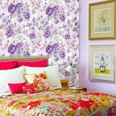 Papel de Parede Violet roses