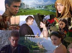 Anakin and Padme Skywalker Star Wars episode two. #love across the stars.