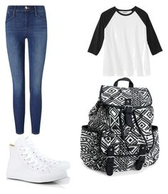 """T-Style"" by teaganscott ❤ liked on Polyvore featuring Converse, Frame Denim and Aéropostale"