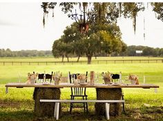 hay-bale table