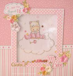 Álbum bebé para ciara – ilusiones de Niny Mini Album Tutorial, Mini Scrapbook Albums, Diy And Crafts, Hello Kitty, Diy Projects, Frame, Bb, Scrapbooking Ideas, Daughters
