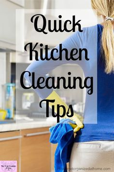 Are you looking for simple tips to get your kitchen looking clean all the time! These tips will help you tackle your kitchen and make it look deep cleaned all the time! Diy Home Cleaning, Speed Cleaning, Homemade Cleaning Products, Spring Cleaning, Household Cleaning Tips, Cleaning Hacks, Cleaning Schedules, Housekeeping Tips, Clean House