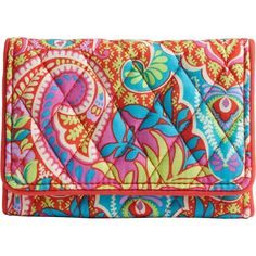 The perfect complement to smaller handbags and crossbody styles, this petite version of Vera Bradley's timeless trifold packs a pretty punch.