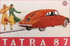 Tatra 1937 Vintage Labels, Vintage Ads, Vintage Posters, Car Brochure, Car Posters, Car Advertising, Monte Carlo, Sport Cars, My Favorite Color