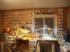 Fly Tying room. Yes. This needs to happen. Maybe in my dream house...