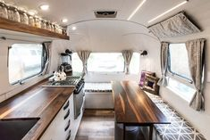 Photo 4 of 20 in A Gleaming Airstream Borrows Space-Saving Tips From Boat Design - Dwell Airstream Bambi, Airstream Vintage, Airstream Land Yacht, Airstream Campers, Airstream Remodel, Airstream Interior, Trailer Interior, Camper Renovation, Remodeled Campers