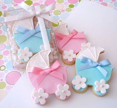 Baby carriage cookies. So cute.
