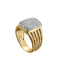 Bamboo 18k Diamond Five-Row Ring by John Hardy at Neiman Marcus.