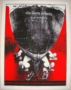 2007 The White Stripes - Birmingham Concert Poster by Rob Jones
