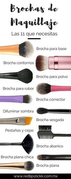 11 BROCHAS QUE NECESITAS EN TU VIDA #MakeUpBrushes #Essentials #Beauty