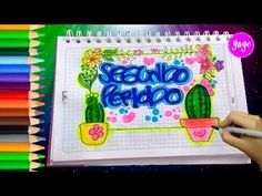 List of attractive segundo periodo marcado ideas and photos Up Halloween, Font Styles, Border Design, Cover Pages, My Little Pony, Diy And Crafts, Notebook, Letters, School