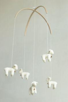nursery mobile - baby crib mobile - Lamb mobile - Sheep mobile - made to order