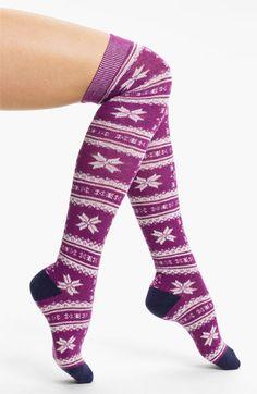 Make + Model 'Critter Fair Isle' Over The Knee Socks | Nordstrom