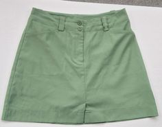 Golf Skort by NikeGolf SIZE 6, Sage Green Dry Fit, Poly Spandex 4 Pockets Shorts #Nike