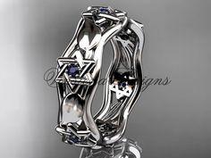 14kt white gold Star of David ring jewish ring by VinsienaDesigns
