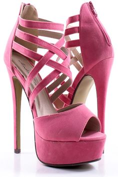 CORAL VELVET PEEP TOE CRISS CROSS STRAPPY HIGH HEELS on Chiq  $15.99 http://www.chiq.com/coral-velvet-peep-toe-criss-cross-strappy-high-heels
