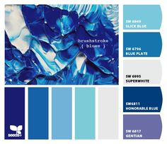 """From 5.17.12 """"Brushstroke blues"""" Design Seeds to paint colors from Chip It! by Sherwin-Williams"""