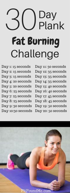 30 day plank fat burning challenge