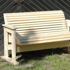 Bauplan für eine Gartenbank: Schritt für Schritt eine Schaukelbank oder Sitzbank selber bauen. Detaillierte Bauanleitungen mit Kontrusktionsskizze.