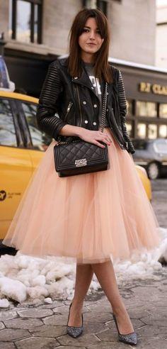 Apricot Tulle Skirt