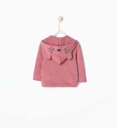 Sweatshirt with fox-shaped hood-Back to School-Baby girl | 3 months - 3 years-KIDS | ZARA United States