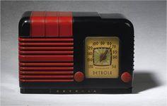 Black and Red Bakelite Radio
