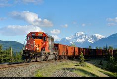 RailPictures.Net Photo: CN 5377 Canadian National Railway EMD SD40-2 at Jasper, Alberta, Canada by Tim Stevens