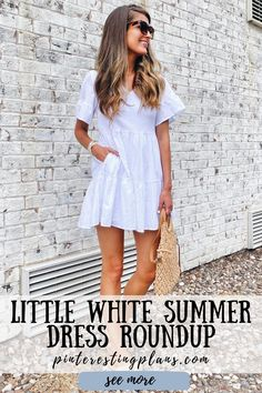 Click to see these white dresses on Pinteresting Plans! White dress classy elegant short. Best white dress outfit casual summer and white dress outfit casual street style. White summer dress outfit classy fashion. White sundress outfit casual. White sundress short summer. White sundress outfit summer. White sundress short outfit. White sundress long summer. White sundress short retro vintage. White sundress outfit class. White summer dress outfit classy chic. #summer #dress #outfit Everyday Casual Outfits, Simple Summer Outfits, Casual Dress Outfits, Summer Dress Outfits, Summer Outfits Women, Stylish Outfits, White Sundress Outfit, White Sundress Long, White Dress Summer