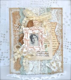 Stempelglede :: Design Team Blog: Handmade card. Rubber stamps used for this project: Vintage Baby, Follow your Heart and Post Card from Paris stamp sets. 2015 © Cathrine Sandvik