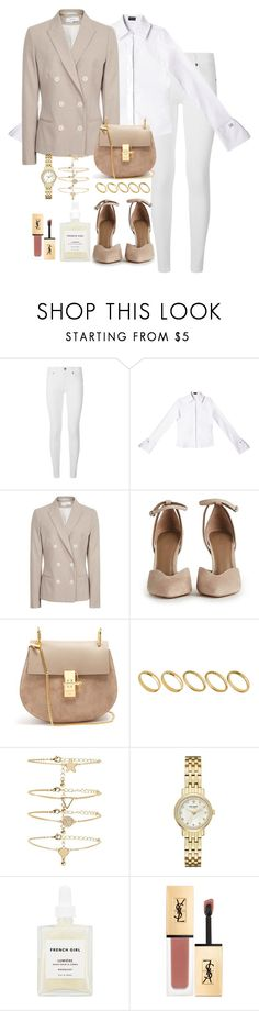 """Untitled #5196"" by theeuropeancloset ❤ liked on Polyvore featuring Burberry, Chloé, ASOS, Forever 21, Kate Spade, French Girl and Yves Saint Laurent"