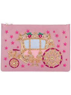 DOLCE & GABBANA  carriage patch clutch