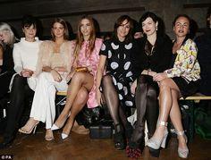 Starry eyed: (From left)Gizzi Erskine, Millie Mackintosh, Amber Le Bon, Yasmin Le Bon, Ja...