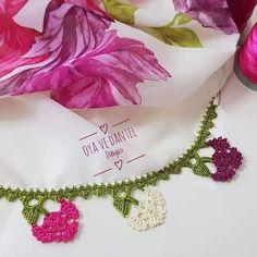 Şahane ve Şık Tığ İşi Oya Modelleri Crochet Necklace, Jewelry, Instagram, Towels, Punch Needle, Crochet Collar, Jewellery Making, Jewelery, Jewlery