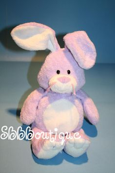 """Ty Pluffies Bunny Rabbit  2006 Plush Lavender purple Twitches white tummy 10"""" #Ty #Easter"""